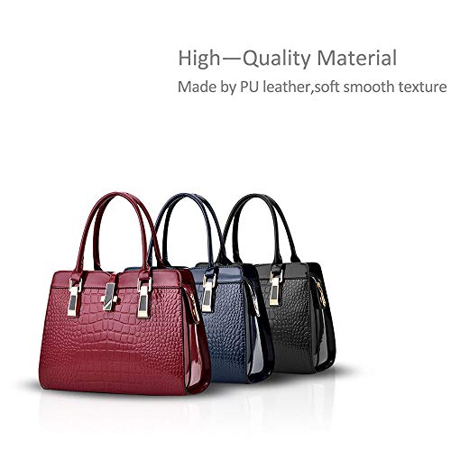color Gran Fashion Bolsa Shoulder Vnlig Red Capacidad Azul Messenger Lady Oscuro Bag Simple WqqXBzr