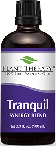 Oil Aromatic Glass Patchouli (Plant Therapy Tranquil Synergy Essential Oil Blend. 100% Pure, Undiluted, Therapeutic Grade. Blend of: Bergamot, Patchouli, Blood Orange, Ylang Ylang and Grapefruit. 100 mL (3.3 Ounce).)