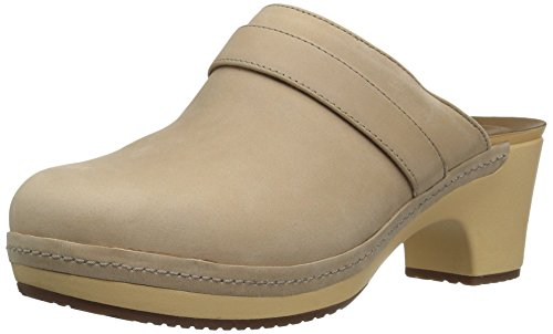CROCS - SARAH LEATHER CLOG - sand