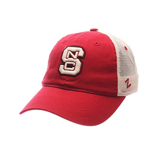 Zephyr NCAA North Carolina State Wolfpack Adult Men University Relaxed Cap, Adjustable, Team Color/Stone