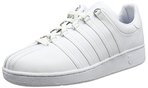 K-Swiss Men's Classic Vintage Updated Iconic Shoe, White/White, 10 M US