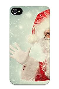 New Santa Claus Beard Glasses Tpu Case Cover, Anti-scratch Resignmjwj Phone Case For Iphone 4/4s