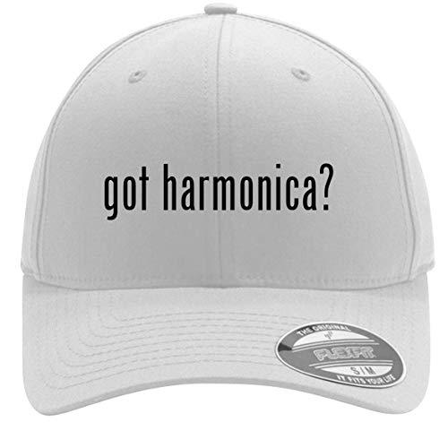 - got Harmonica? - Adult Men's Flexfit Baseball Hat Cap, White, Large/X-Large