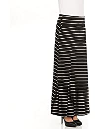 Womens Long Stylish Foldover Maxi Skirt, Rayon Spandex, Junior & Plus