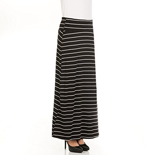 X America Foldover Long Maxi Skirt Junior and Plus Size Maxi Skirts for Women, Made in USA ()
