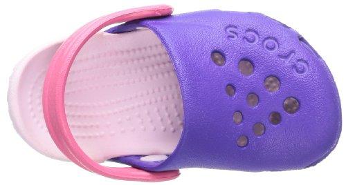 Crocs Hale - Zuecos de Goma, Niños Morado (Ultraviolet/Bubblegum)