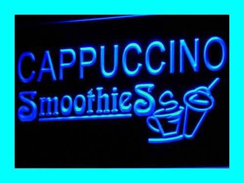 Cappuccino Led Sign (Cappuccino Smoothies Drink Shop Cafe LED Sign Night Light i346-b(c))