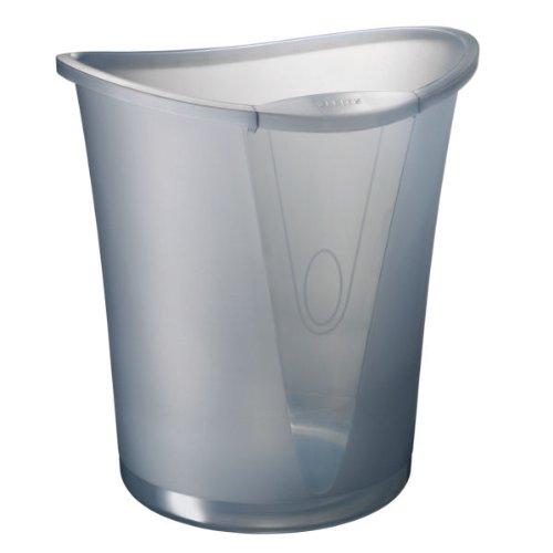 Leitz 52040092 Papierkorb Allura 18 Liter, Polystyrol, rauch transparent