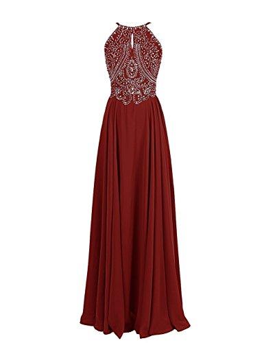CoutureBridal - Vestido - corte imperio - para mujer borgoña