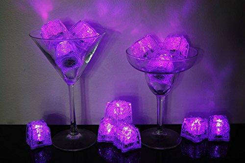 Set of 12 Litecubes Brand 3 Mode Pink Light up LED Ice Cubes