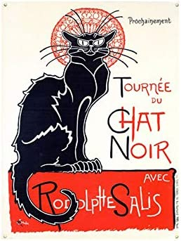 Forry Tournee Du Chat Noir Retro Hierro Pintura Creatividad ...
