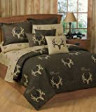Bone Collector 7 Pc Queen Comforter Set and One Matching Window Valance/Drape Set (Comforter, 1 Flat Sheet, 1 Fitted Sheet, 2 Pillow Cases, 2 Shams, 1 Window Valance/Drape Set) SAVE BIG ON BUNDLING!