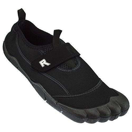 Rockin Footwear Herren Rockin Aqua Foot Wasserschuh Schwarz
