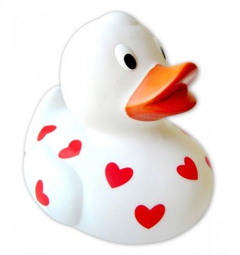 Rubber Duckie - Love / Hearts Duck (Size: 2