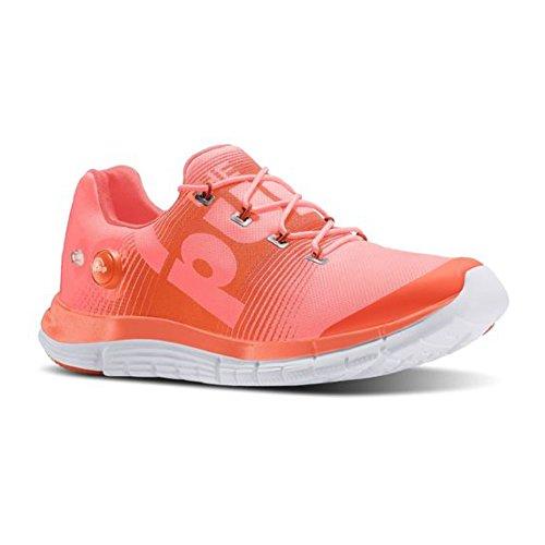 Reebok ZPump Fusion Womens Running Shoe Coral-Tangerine-White Coral-tangerine-white TRX01I