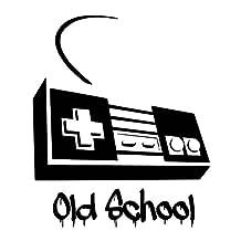 NES Game Controller Old School PREMIUM 5inch White Decal | Nintendo | Old Skool | Duck Hunt | Bumper Sticker | Car Truck SUV Van Motorcycle Helmet
