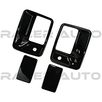Set of 4 Outside Door Handle Textured Black for 99-14 Ford F Super Duty Truck