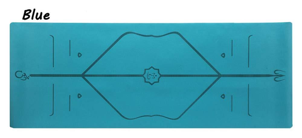 YOOMAT 5Mm Yoga Matte Natürliche Gummi Anfänger Professionelle Anti-Slip Fitness Matte Verbreitert 68 Cmpu Körper Linie Yoga Matte