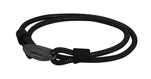 PHITEN X50 Titanium Bracelet Loop, Metallic Black, 6.7