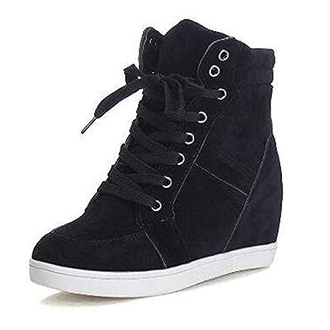 bbec552a63c1d Amazon.com: Autumn High Top Women Sneakers 2018 Winter Hidden Heel ...