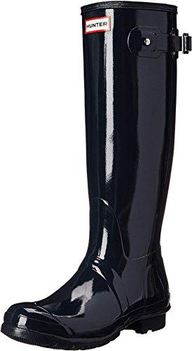 womens hunter rain boots blue - 3
