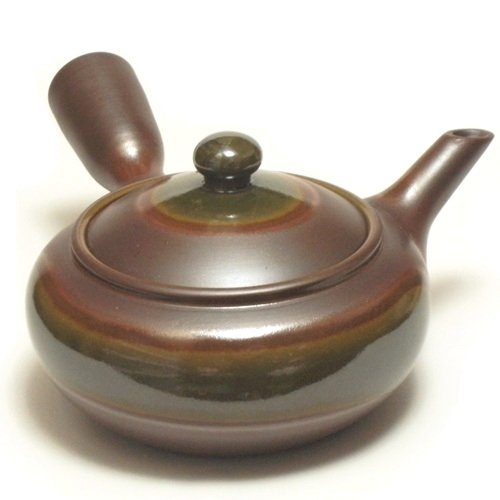 Banko teapot 526G purple mud Oribe 280cc (japan import) by Hase potting by Hase potting