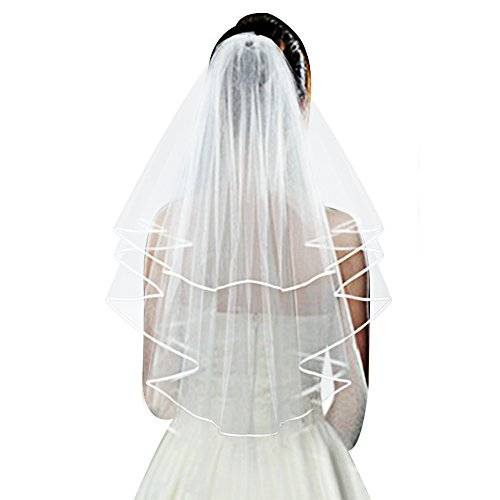 Pistha 2-tier Bridal Wedding Veil Bachelorette Veil with Comb