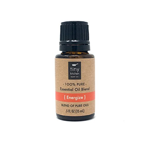 Energize - Aromatherapy Blend of Pure Undiluted Essential Oils (15 mL / .5 fl oz) - Energize Therapy