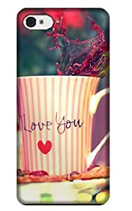 Jakeselling Love Forever and cup with I love you on cases for Iphone 4 4s