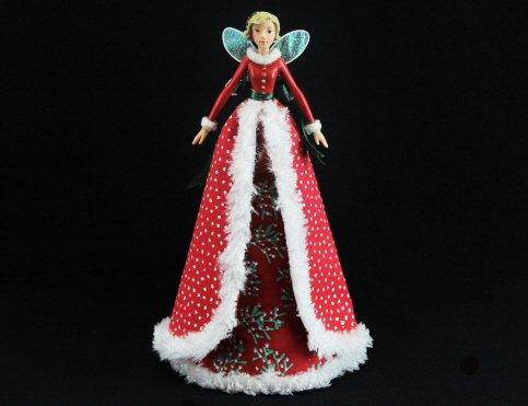 Gisela Graham–Christmas Tree Topper Red Fairy Dream