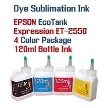 Dye Sublimation Ink 4 color 120ml bottles- EPSON WorkForce Eco-Tank ET-2550