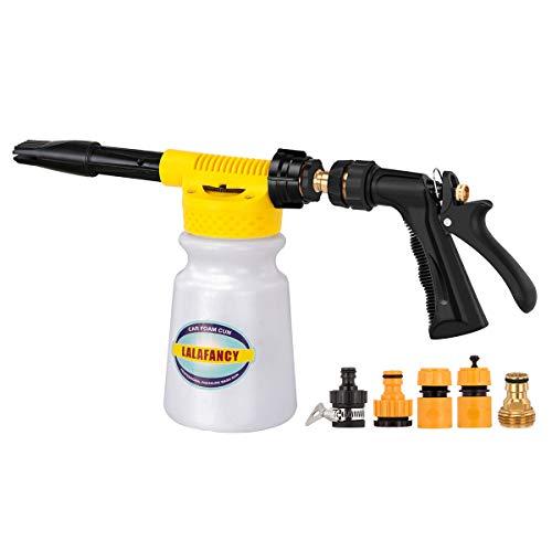 Lalafancy Car Foam Gun, Car Wash Sprayer with Adjustment Ratio Dial Foam Blaster Fit Garden Hose for Car Home Cleaning and Garden Use (Best Foam Car Wash Gun)