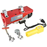 Electric Hoist, 100/200kg Electric Cable Hoist Lifting Wire Hanging Crane US Plug 110V