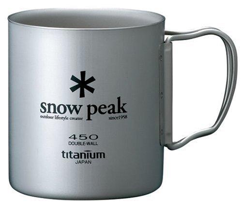 Snow Peak Titanium Double 450 Wall Cup (Wall Cup Titanium)