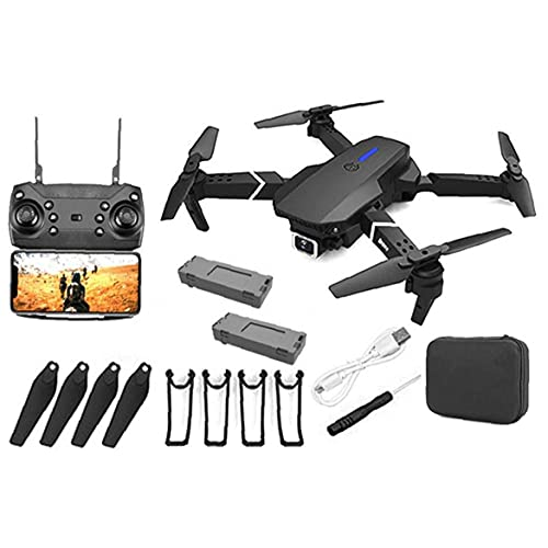 GPS Drone E88 Pro Foldable GPS Drone with 4K Camera for Adults, Quadcopter with Brushless Motor,Carrying Bag, Long…