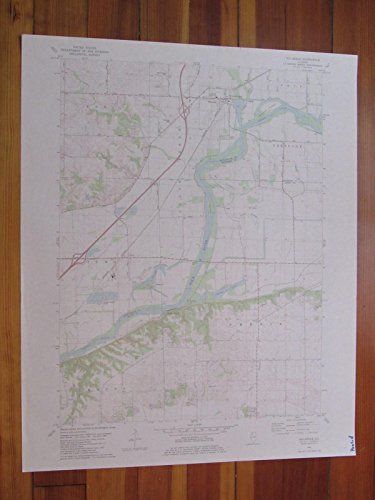 Hillsdale Illinois 1982 Original Vintage USGS Topo - Map Hillsdale