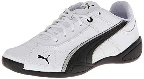 PUMA Tune Cat B 2 JR Classic Sneaker (Little Kid/Big Kid) , White/Black/Gray Violet, 1 M US Little Kid
