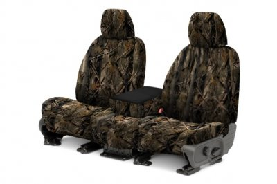 Covercraft SeatSaver Front Row Custom Fit Seat Cover for Select Chevrolet Silverado 1500/GMC Sierra 1500 Models -  True Timber Polyester (3D Image (Covercraft True Timber Camo)