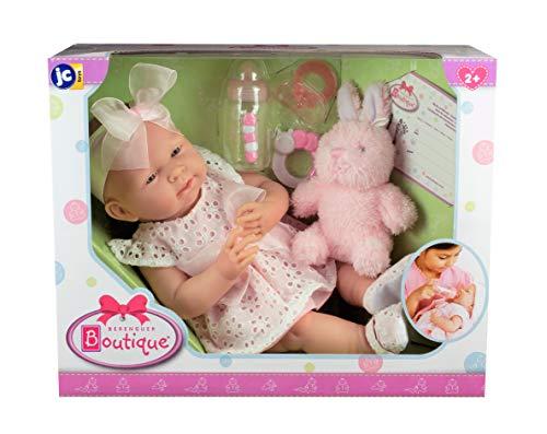 "41EEkX53atL - JC Toys La Newborn Baby Play Dolls, White, Pink, 15"""