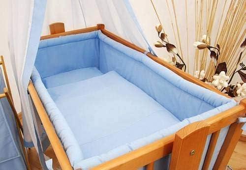 Azul Parachoques de Seguridad de 4 Lados Para Cuna 90 x 40 cm