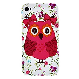 Owl with Bowknot Pattern IMD Technology Hard Case for iPhone 4/4S