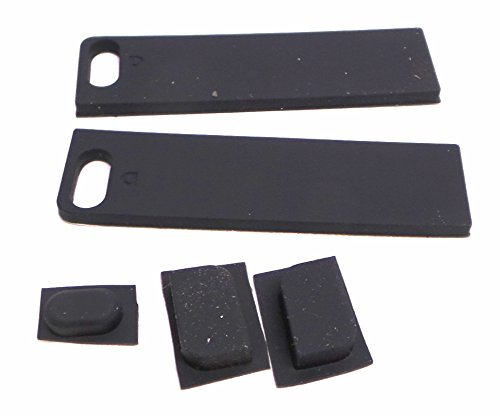 Genuine XPS 9100 Inspiron 9100 F4013 Laptop Notebook 5-Piece 5 Piece Rubber Black Feet Sticker Stick Replacement Kit Set Compatible Part Numbers: F4013, 0F4013, CN-0F4013-12961-881