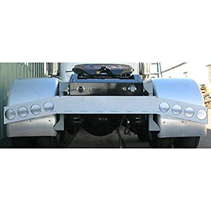 Amazon com: Stainless Steel Rear Bumper Light Bar With