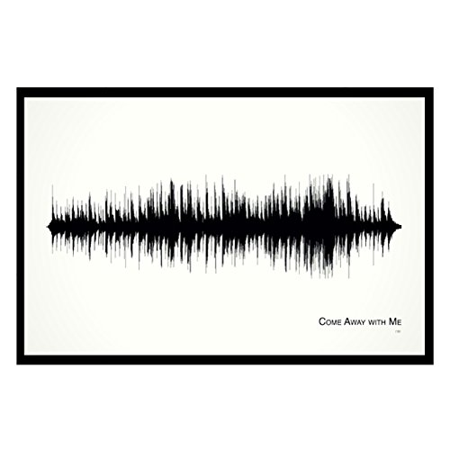 Nora Art Glass - Come Away with Me - 11x17 Framed Soundwave print