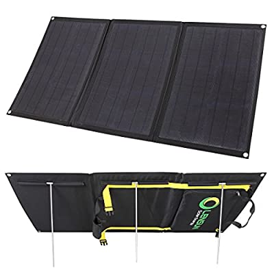 Lensun 80W 12V Ultralight Folding Solar Panel with MC4 Solar Cables, Ideal for Camping van, RVS, Motorhomes, Caravans, Boat and Yachts