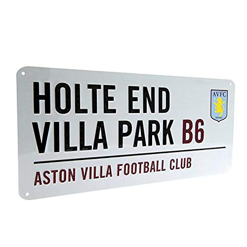 Official Licensed Aston Villa F.C - Metal Street Sign by Official Licensed
