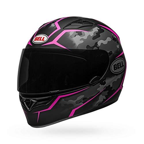 (Bell Qualifier Full-Face Motorcycle Helmet (Stealth Camo Matte Black/Pink, Medium))