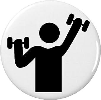 Amazon.com: Fitness Exercise Workout Gym Symbol Sign 2.25 ...