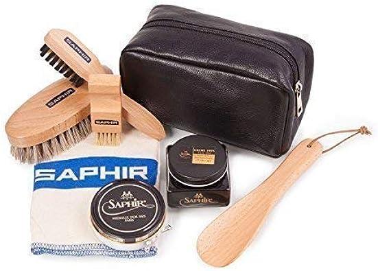 Saphir Premium Chaussure Soin Nettoyage Kit + Cuir Sac Set B