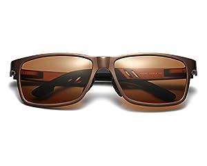 Red Peony Polarized Wayfarer Sunglasses Al-Mg Metal Frame Ultra Light For Driving Cycling Fishing Golf AORON Design